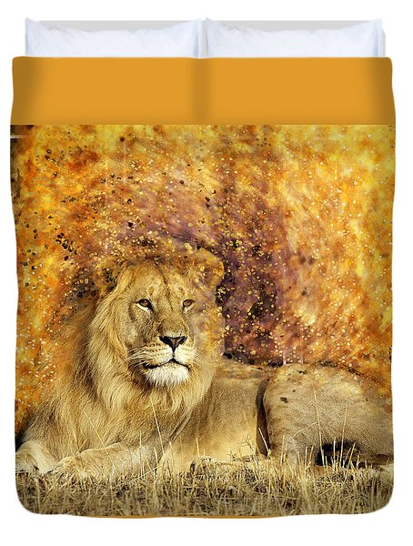 Pieces Of A Lion Duvet Cover