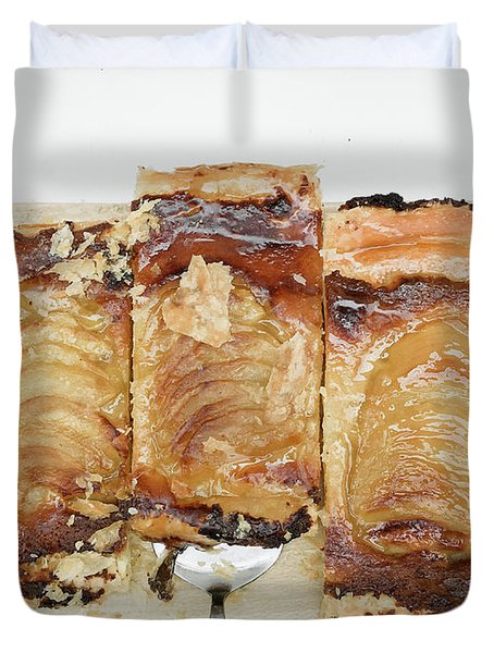 Pieces Of Apple Tart Duvet Cover