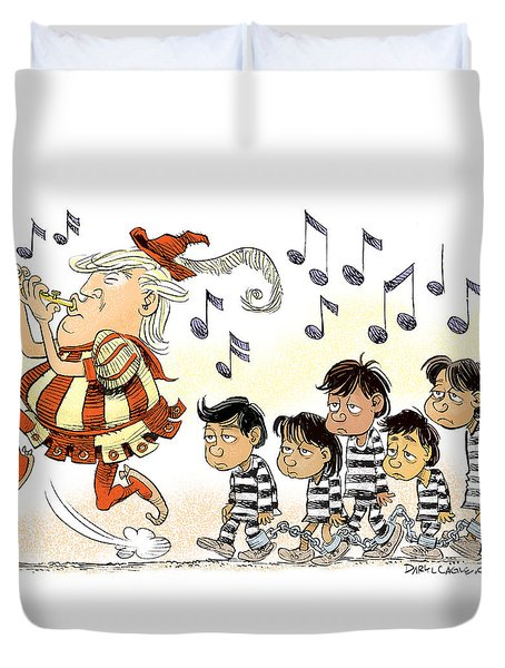 Pied Piper Trump And Infestation Duvet Cover