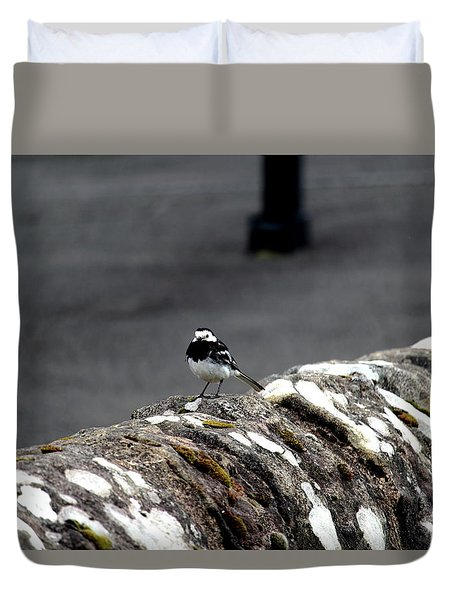 Pied Wagtail Duvet Cover