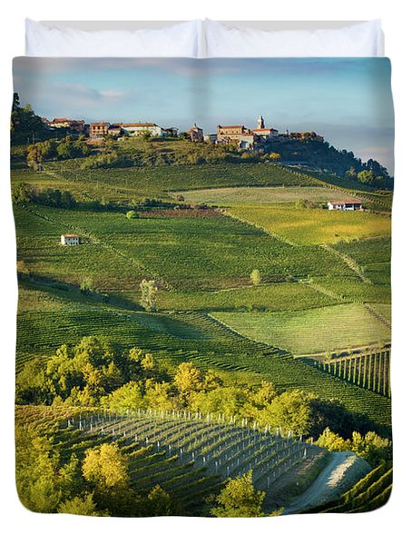 Duvet Cover featuring the photograph Piemonte Countryside by Brian Jannsen