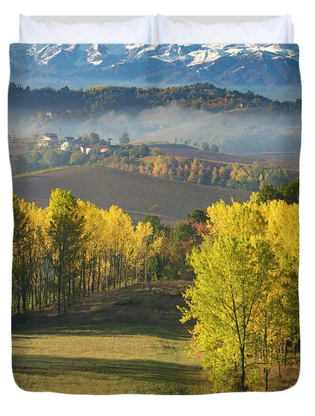 Duvet Cover featuring the photograph Piemonte Morning by Brian Jannsen