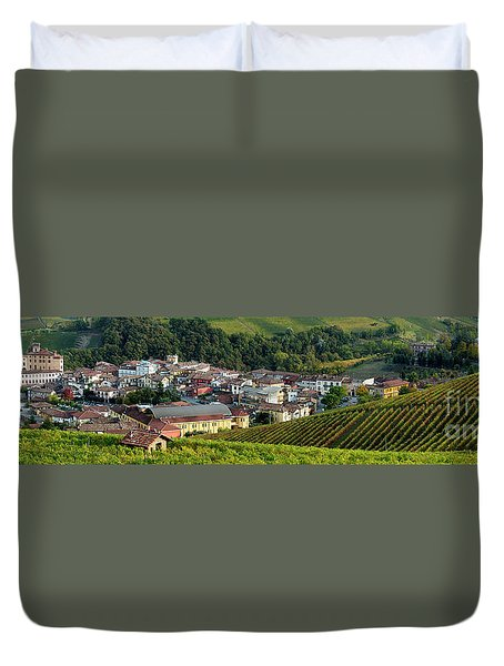 Duvet Cover featuring the photograph Piemonte Panoramic by Brian Jannsen