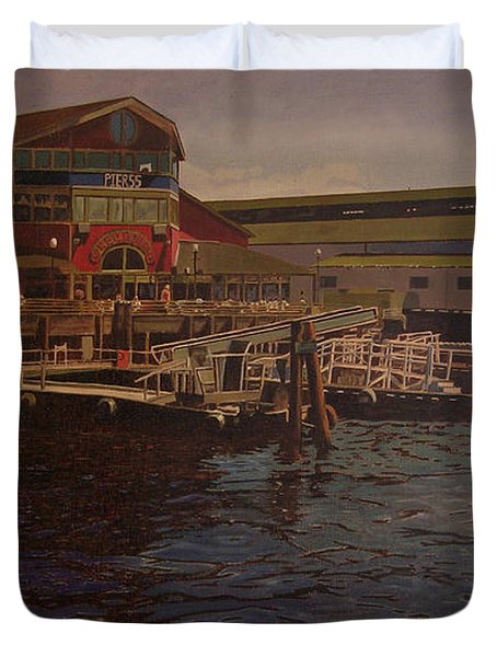 Pier 55 - Red Robin Duvet Cover