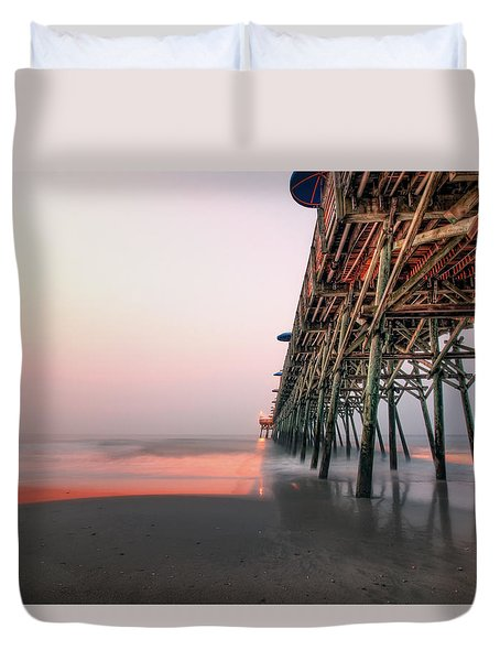 Pier And Surf Duvet Cover
