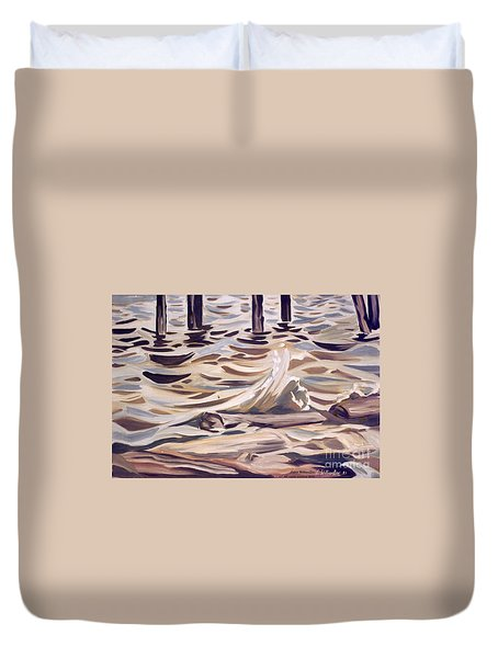 Pier At Granthams Landing Duvet Cover