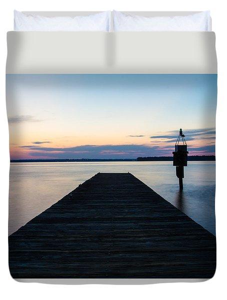Pier At Sunset 16x20 Duvet Cover
