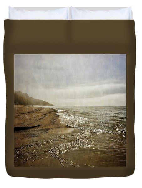 Pier Cove Creek Mouth At Lake Michigan 2.0 Duvet Cover