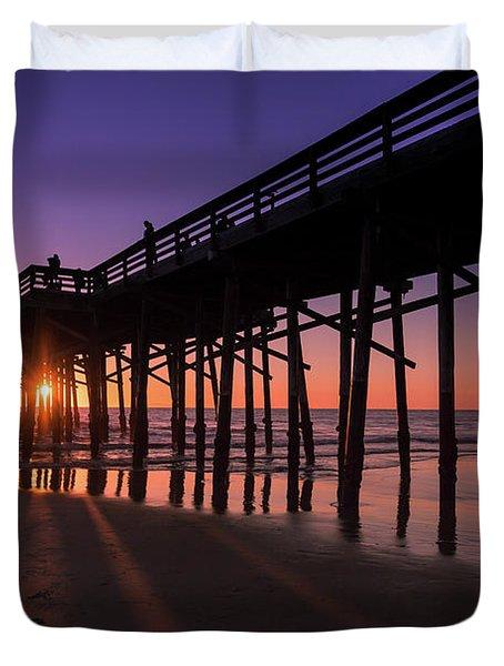 Pier In Purple Duvet Cover
