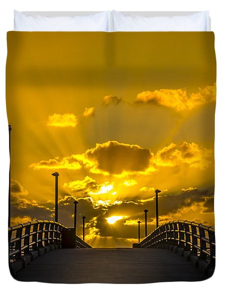 Pier Into The Rays Duvet Cover
