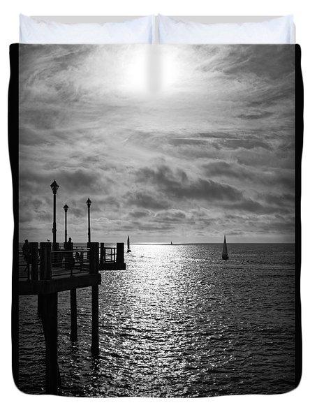 Pier Into The Sun Duvet Cover