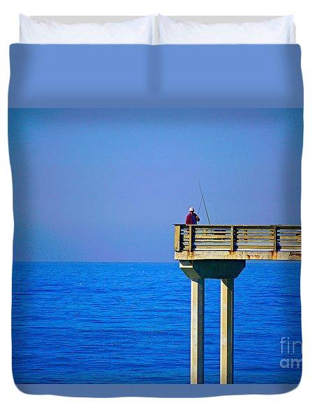 Pier Man Duvet Cover