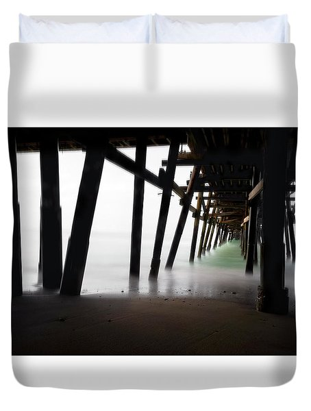 Duvet Cover featuring the photograph Pier Pressure by Sean Foster