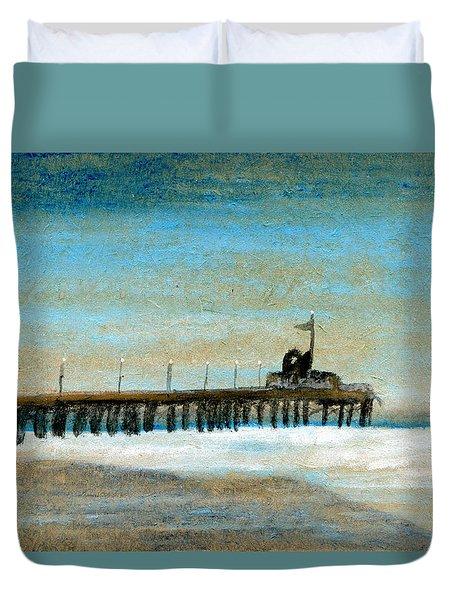 Pier Duvet Cover by R Kyllo