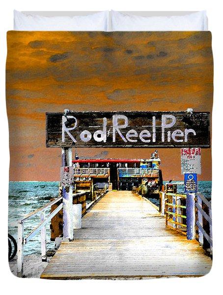 Pier Scape Duvet Cover by David Lee Thompson