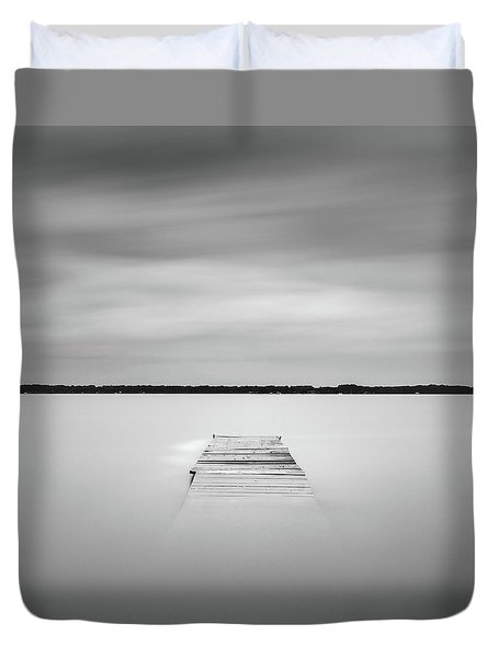 Pier Sinking Into The Water Duvet Cover