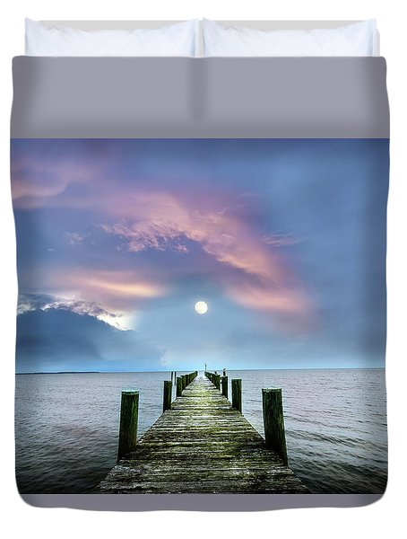 Pier To The Moon Duvet Cover