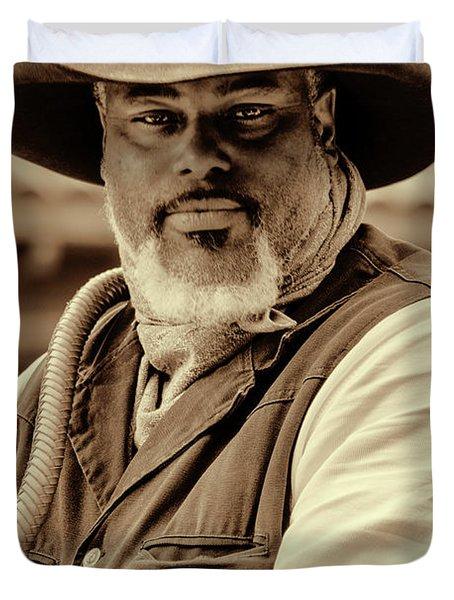 Piercing Eyes Of The Cowboy Duvet Cover