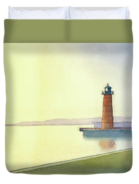 Pierhead Lighthouse, Milwaukee Duvet Cover