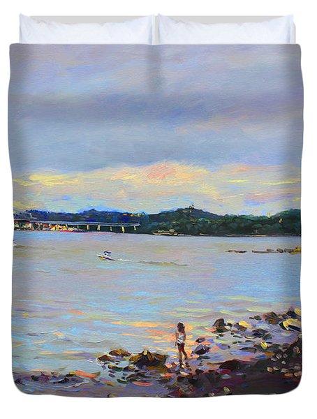 Piermont Shore Ny Duvet Cover