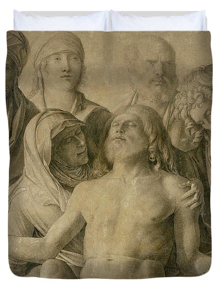 Pieta Duvet Cover by Giovanni Bellini