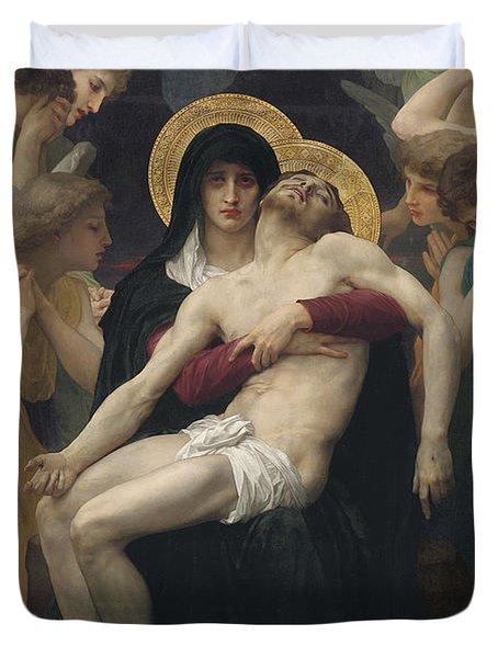 Pieta Duvet Cover by William-Adolphe Bouguereau