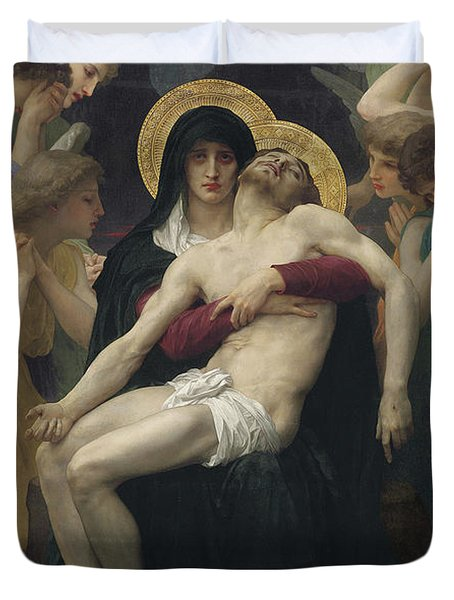 Pieta Duvet Cover by William Adolphe Bouguereau