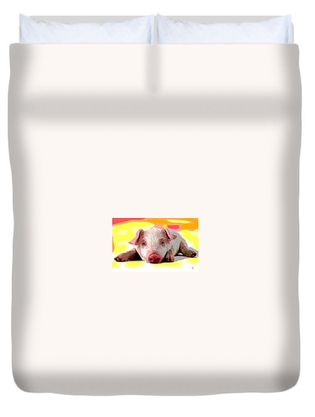 Pig In A Poke Duvet Cover by Charles Shoup