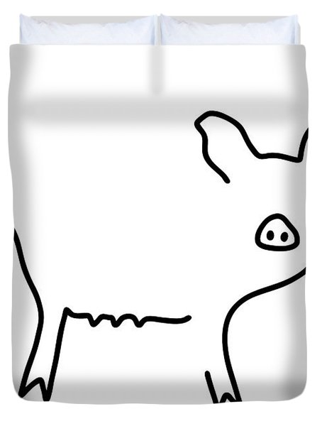 Pig Piglet Make A Mess Duvet Cover by Lineamentum