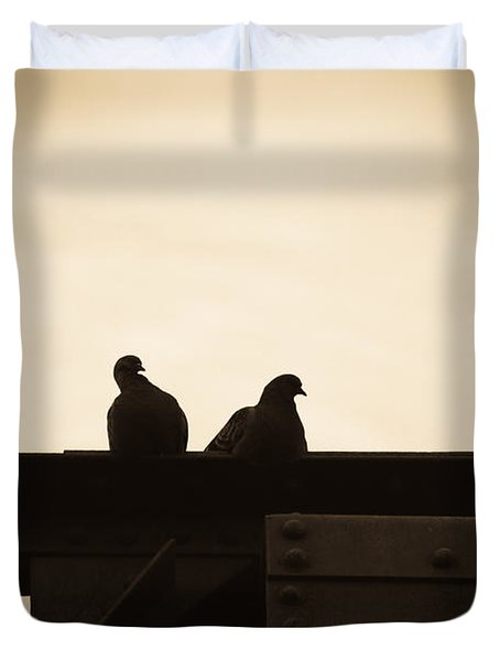 Pigeon And Steel Duvet Cover