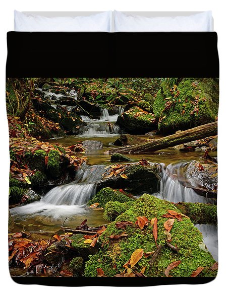 Pigeon Creek Cascades Duvet Cover
