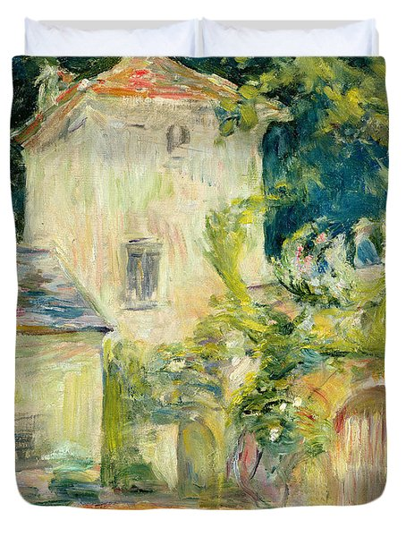 Pigeon Loft At The Chateau Du Mesnil Duvet Cover by Berthe Morisot