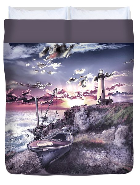 Pigeon Point Lighthouse 3 Duvet Cover