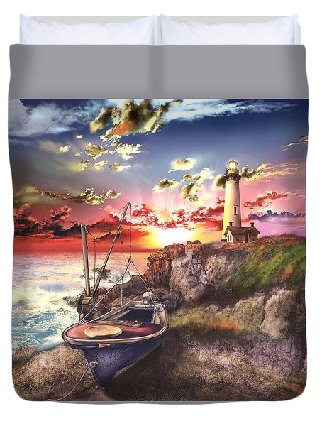Pigeon Point Lighthouse Duvet Cover