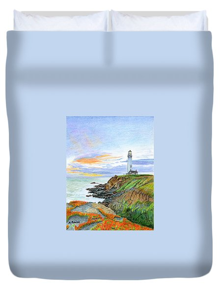 Pigeon Point Sunset Duvet Cover