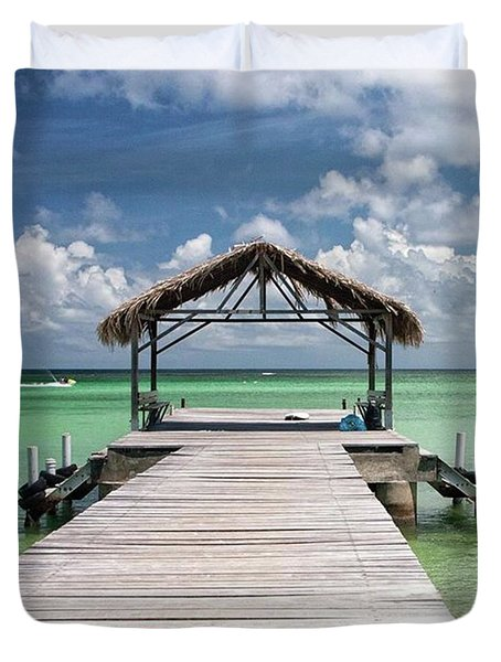 Pigeon Point, Tobago#pigeonpoint Duvet Cover