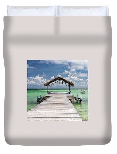 Pigeon Point, Tobago#pigeonpoint Duvet Cover by John Edwards