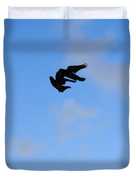 Pigeons Shadow Duvet Cover