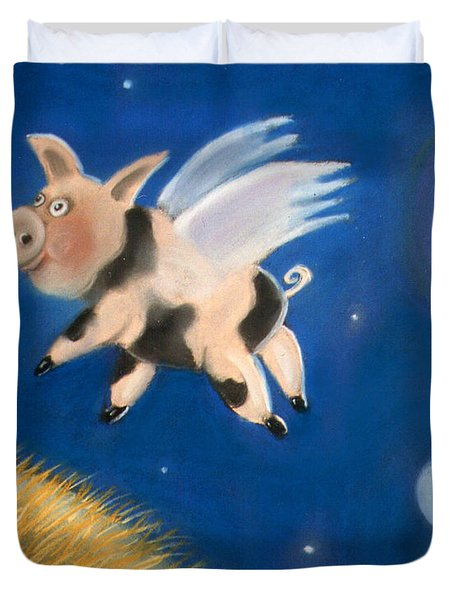 Pigs Might Fly Duvet Cover