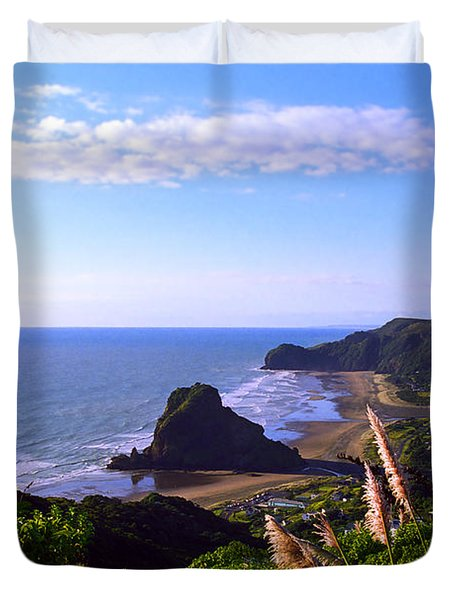 Piha Panorama Duvet Cover by Kevin Smith