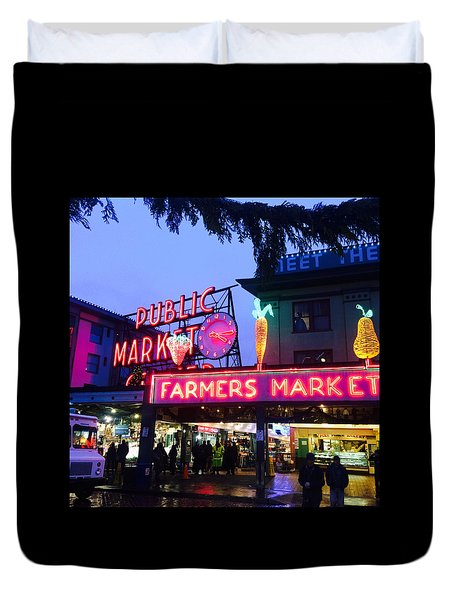 Pike Place Market Duvet Cover by Anthony Grayson