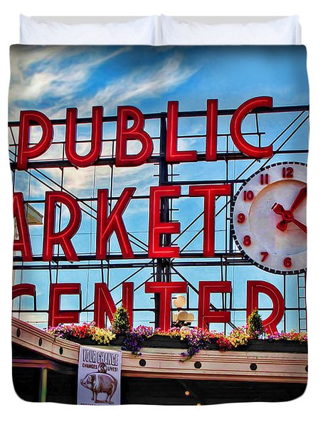 Pike Place Market Duvet Cover