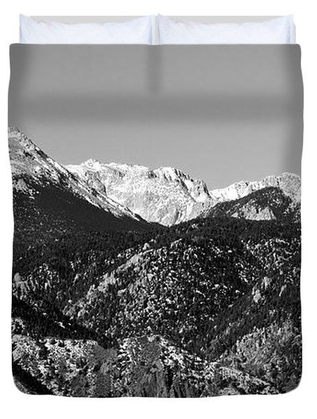 Pikes Peak And Incline 36 By 18 Duvet Cover