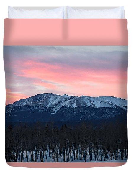 Sunrise Pikes Peak Co Duvet Cover