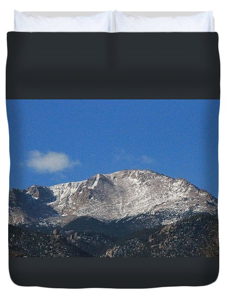 Pikes Peak Duvet Cover