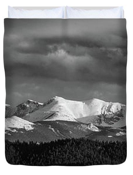 Pike's Peak Or Bust Duvet Cover