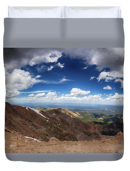 Pikes Peak Storm Duvet Cover