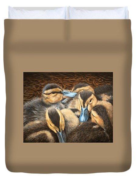 Pile O' Ducklings Duvet Cover