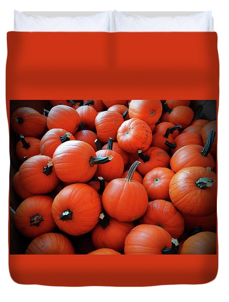 Pile Of Pumpkins Duvet Cover