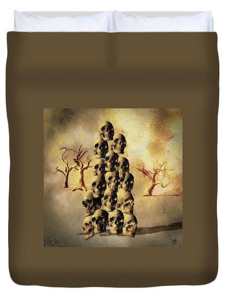 Pile Of Skulls Duvet Cover